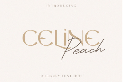 Celine Peach - A Luxury Font Duo