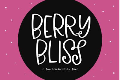 Berry Bliss - Quirky Handwritten Font