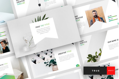 True - Minimal PowerPoint Template