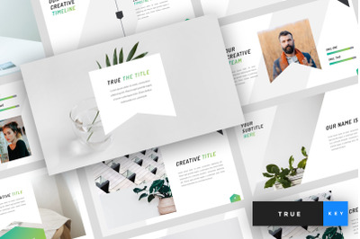 True - Minimal Keynote Template