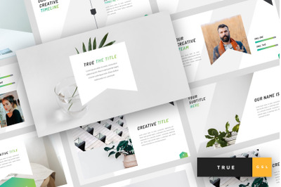 True - Minimal Google Slides Template