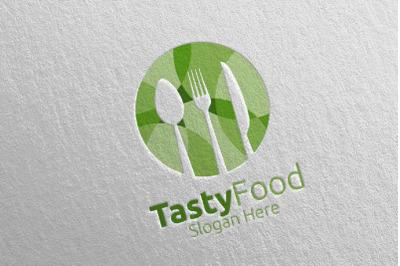 Healthy Food Logo for Restaurant or Cafe 2