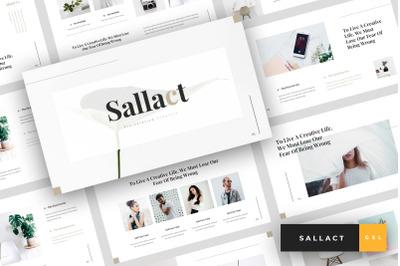 Sallact - Creative Google Slides Template