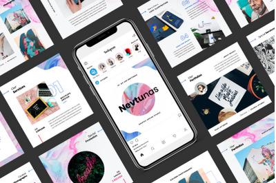 Nevtunas - Business Instagram PowerPoint Template