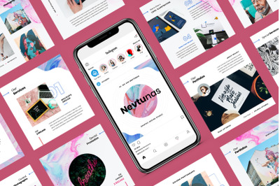 Nevtunas - Business Instagram Google Slides Template