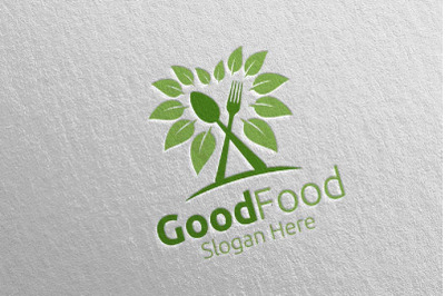 Healthy Food Logo for Restaurant or Cafe 4