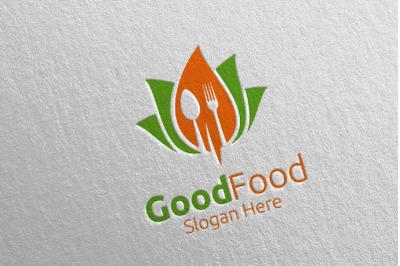 Healthy Food Logo for Restaurant or Cafe 5