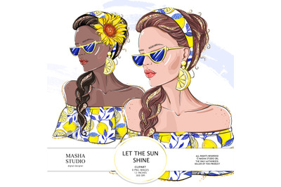 LET THE SUN SHINE girl clipart