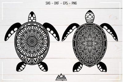 Sea Turtle Mandala Zentangle Svg Design