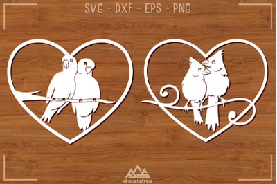 Bird Love Heart Svg Design