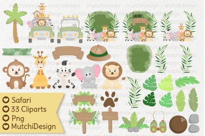 Safari Cute Cliparts