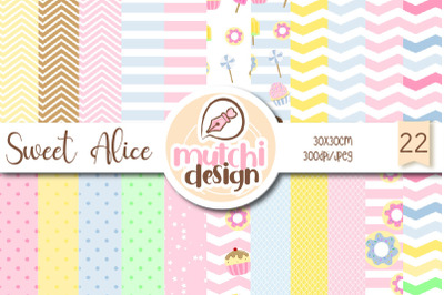 Sweets Alice Digital Papers