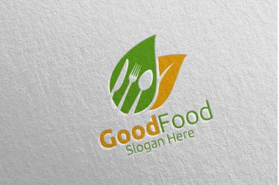 Food Logo Template for Restaurant or Cafe 6