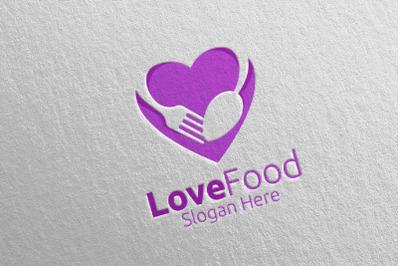 Love Healthy Food Logo for Restaurant or Cafe 11