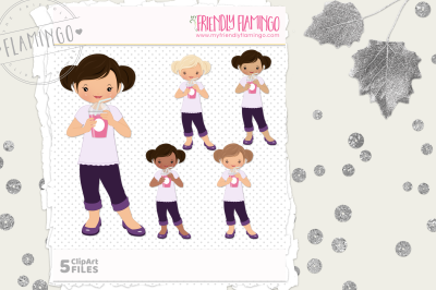 Smoothie Girl Clipart