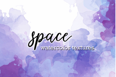 space watercolor textures