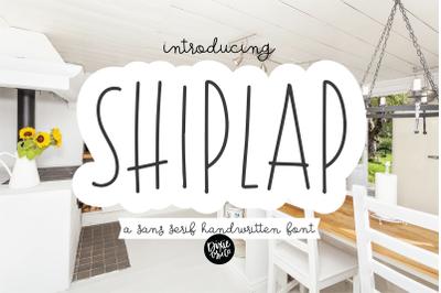 SHIPLAP a Sans Serif Farmhouse Font