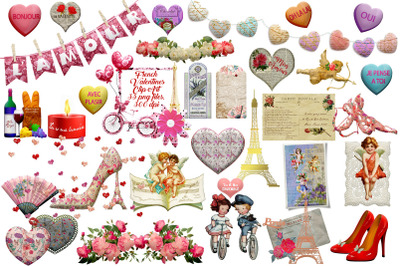French Valentines Clip Art
