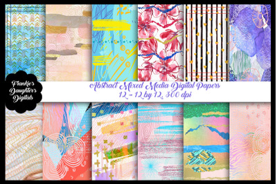 Abstract Mixed Media Digital Papers