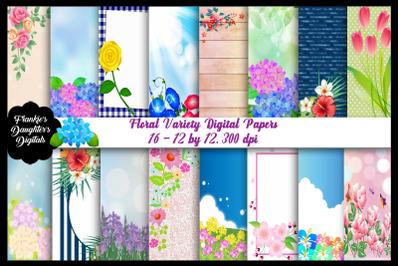 Floral Variety Digital Papers