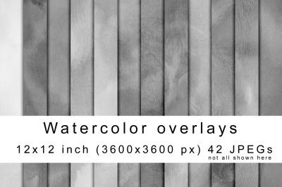 Watercolor overlays