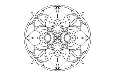 Illustration of a circle Mandala