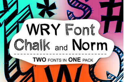 WRY Font | normal and chalk version