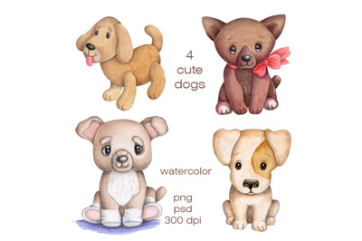 Four Cute Dogs