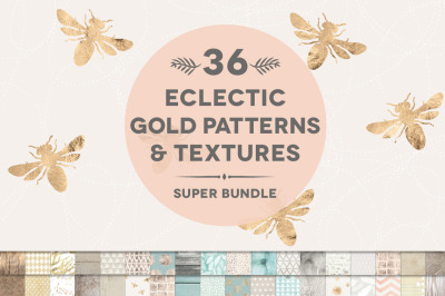 36 Eclectic Gold Patterns & Textures