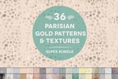 36 Parisian Gold Patterns & Textures