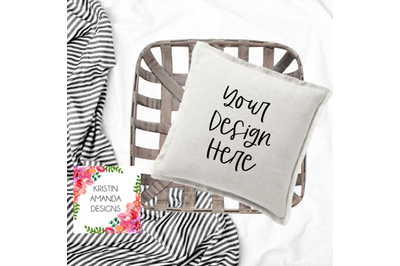 Farmhouse Modern Pillow Mockup Image, Stock Photography, Instant Downl