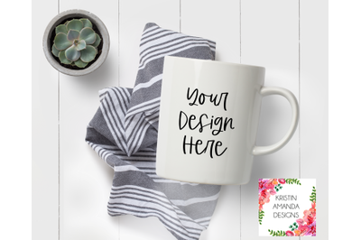 Modern Farmhouse Coffee Mug Mockup Image, Stock Photography, Instant D
