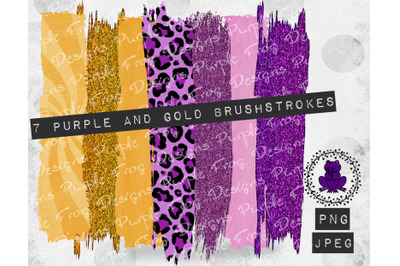 Brushstroke Bundle Purple Gold LSU Lakers Vikings