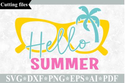 Hello summer SVG cut file, Summer SVG, Beach SVG