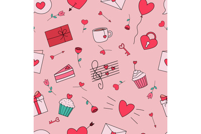 Valentine's day seamless repeating pattern