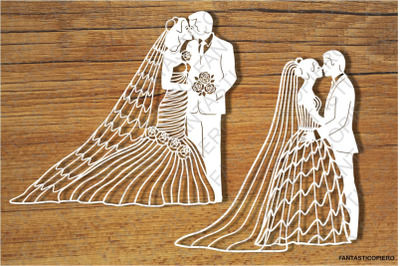 Newlyweds SVG files for Silhouette Cameo and Cricut.
