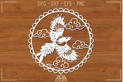 Bird Flying Papercut Svg Design