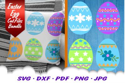 Easter Eggs SVG DXF Cut Files Bundle