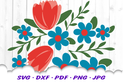 Flowers Floral SVG DXF Cut Files