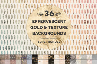 36 Effervescent Gold & Textured Backgrounds