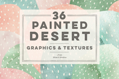 36 Painted Desert Cactus Graphics & Textures