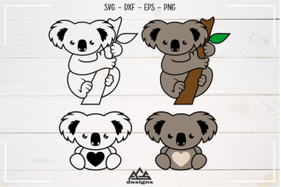 Cutie Koala Australia Svg Design