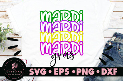 Mardi Gras Mirror Font Design SVG