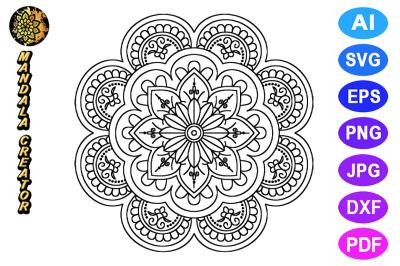 Mandala Flower Pattern - 02