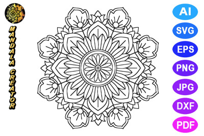 Mandala Flower Pattern - 03