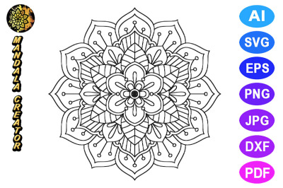 Mandala Flower Pattern - 04