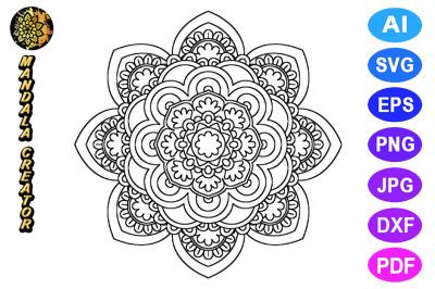 Mandala Flower Pattern - 05