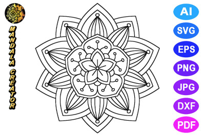 Mandala Flower Pattern - 09