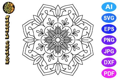 Mandala Flower Pattern - 10