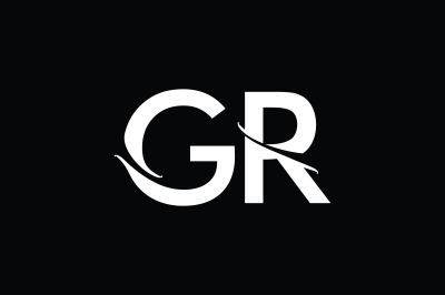 GR Monogram Logo Design